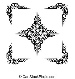 Tattoo Cross Corners