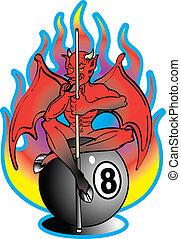 Tattoo Design Devil 8 Ball Clip Art