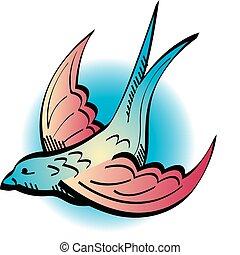 Tattoo Design Swallow Clip Art