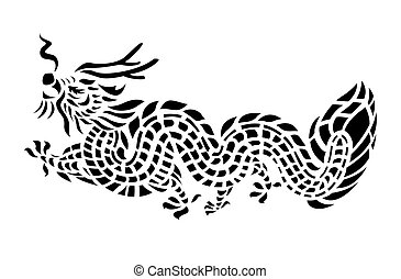 Tattoo Dragon Vector Illustration