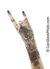 Tattoo drawing  hand