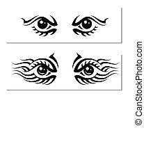 Tattoo Eye Design Vector Art