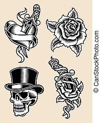 Tattoo Flash Vector Illustration
