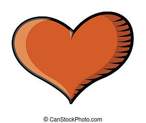Tattoo Heart - Vector Illustration