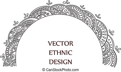 tattoo henna pattern - Vector semicircular tattoo henna...