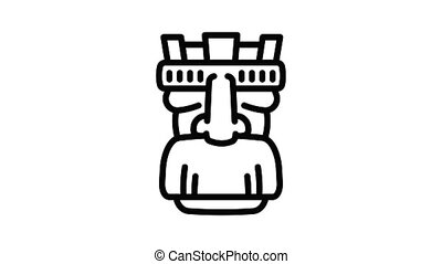 Tattoo idol icon animation outline best object on white background