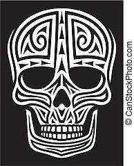 tattoo), ornamento, (skull, cranio