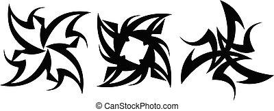 tattoo., projete elementos, abstratos