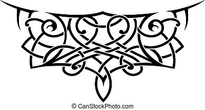 Tattoo shape in lace style