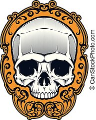 Tattoo skull illustration