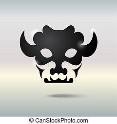 Tattoo skull of a bull.