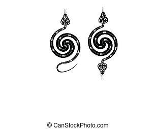 Tattoo Snake Design Vector Art