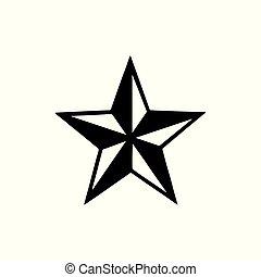 Tattoo Star Stencyl Design - Ready for Print