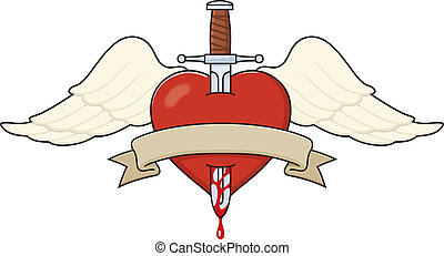 Tattoo-style heart illustration