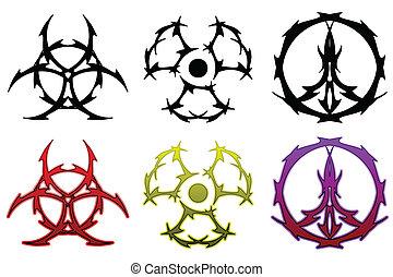 Tattoo symbol set
