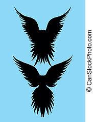 tattoo tribal birds vector art