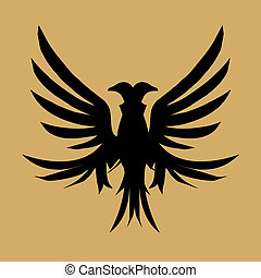tattoo tribal black eagle vector art