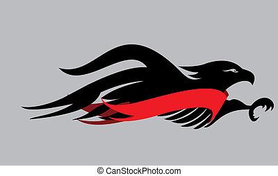 tattoo tribal eagle vector art