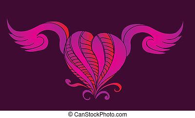 tattoo tribal heart vector art