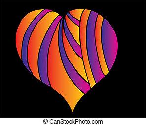 tattoo tribal red heart vector art