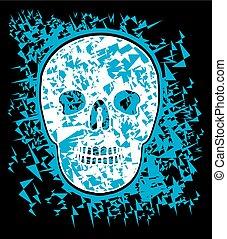 tattoo tribal skull vector art