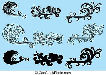 tattoo tribal wave vector art