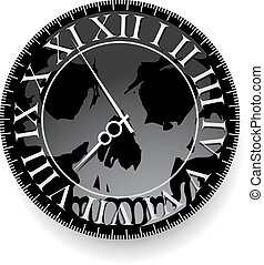 Tattoo with clock and skull