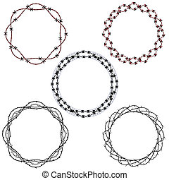 Tattoo wreaths - Set of five tattoo inspired wreaths or...