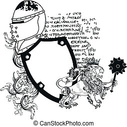 tattoo2, cappotto, araldico, braccia, leone