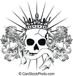 tattoo3, araldico, braccia, leone, cappotto