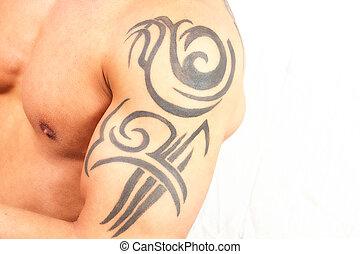 tattooed, hombre