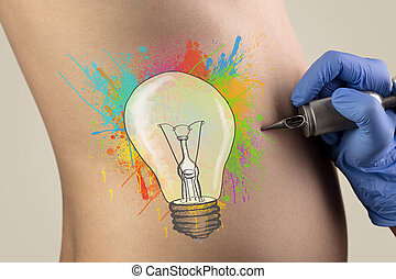 Tattooing idea concept on back