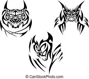 Tattoos big cats - Three tattoos with big cats.