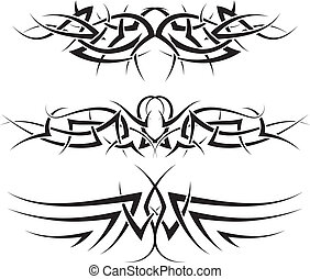 tattoos set