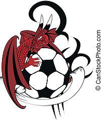 tattotshirt8, futball, középkori, sárkány