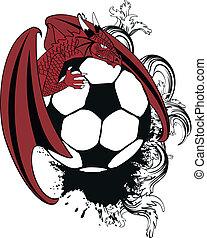 tattotshirt9, futball, középkori, sárkány