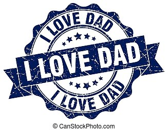 tatuś, poznaczcie., znak, miłość, stamp.