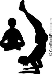 tatuś, yoga