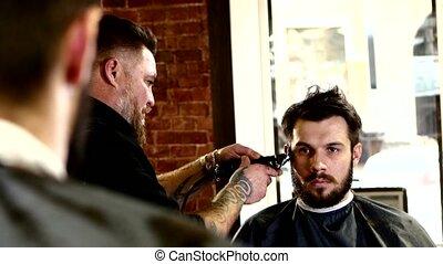 tatuaże, fryzura, mężczyźni, truly, hairdresser:, jego, pan...