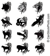 tatuagem, animais