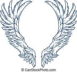tatuagem, asas