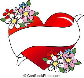 tatuagem, bandeira, amor