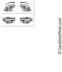 tatuagem, desenho, olho