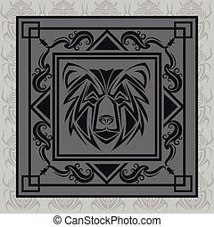 tatuagem, desenho, urso, animal
