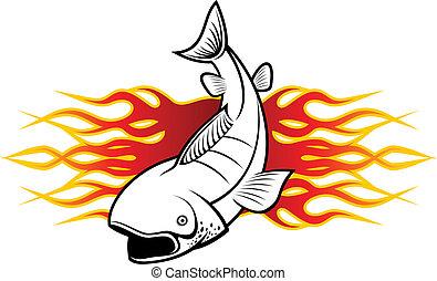 tatuagem, peixe