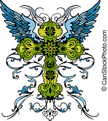 tatuagem, tribal, crucifixos, clássicas