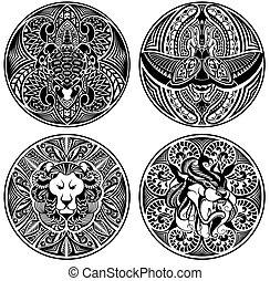 tatuaggio, amuleti