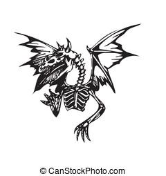 tatuaggio, arte, drago