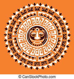tatuaggio, concetto, maya