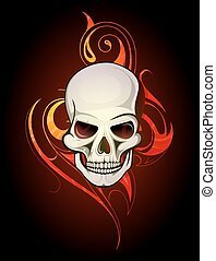 tatuaggio, cranio